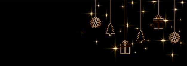 Feliz navidad y feliz año nuevo fondo de banner