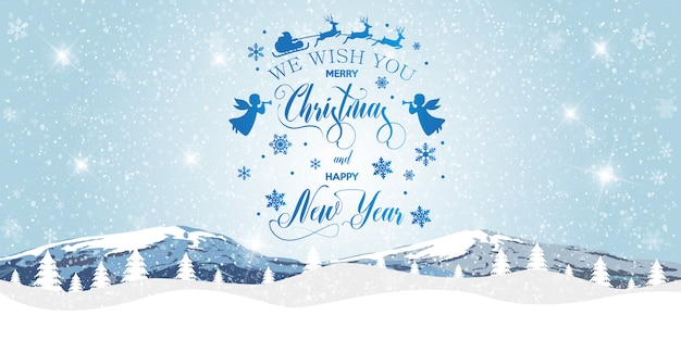 Feliz navidad y feliz año nuevo fondo.