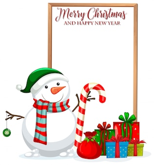 Feliz navidad y feliz año nuevo marco