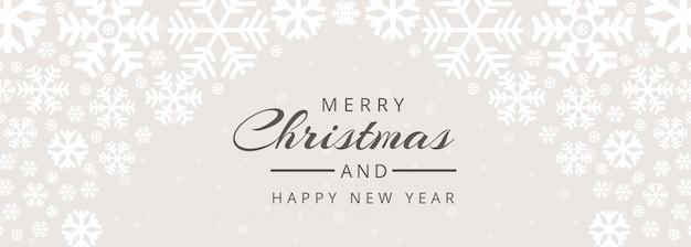 Feliz navidad y feliz año nuevo plantilla de banner