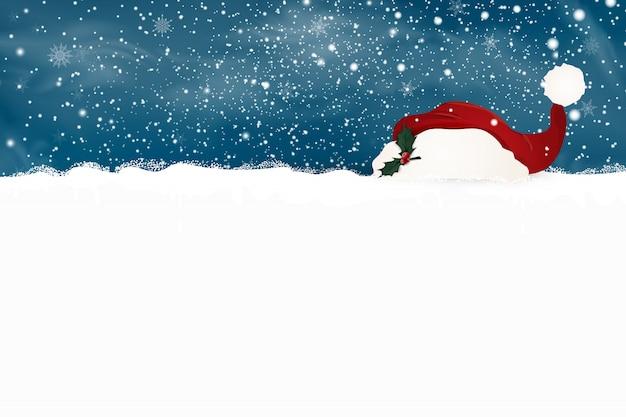 Feliz navidad. feliz año nuevo. plantilla de diseño para cartel en blanco con nieve que cae