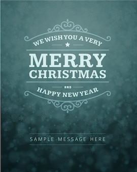 Feliz navidad y feliz año nuevo plantilla de tarjeta de felicitación