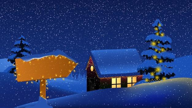 ¡feliz navidad! feliz año nuevo. señal de tráfico de madera gratis.