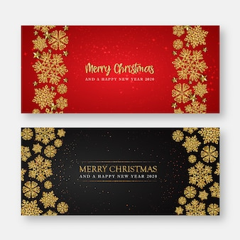 Feliz navidad y feliz año nuevo tarjeta de felicitación o banner