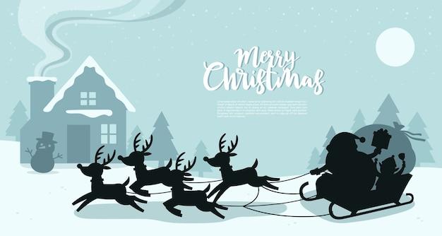 Feliz navidad y feliz año nuevo tarjeta de felicitación.
