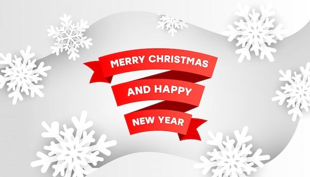 Feliz navidad y feliz año nuevo tarjeta de felicitación