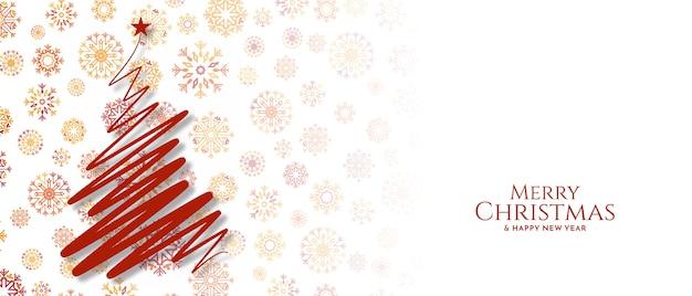 Feliz navidad festival saludo vector banner decorativo