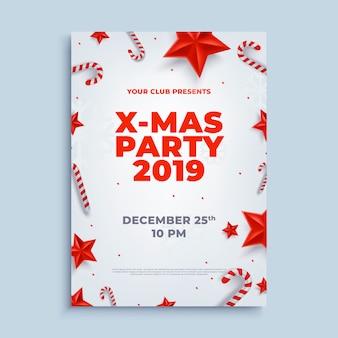 Feliz navidad fiesta diseño cartel cartel o plantilla de volante.