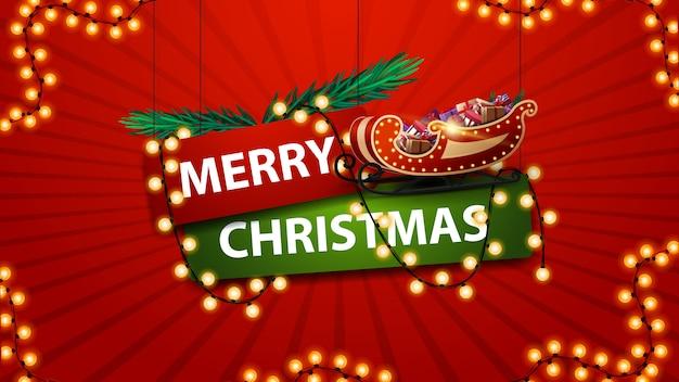 Feliz navidad, firme en estilo de dibujos animados
