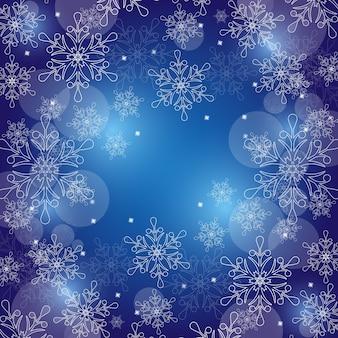 ¡feliz navidad! fondo de invierno con copos de nieve