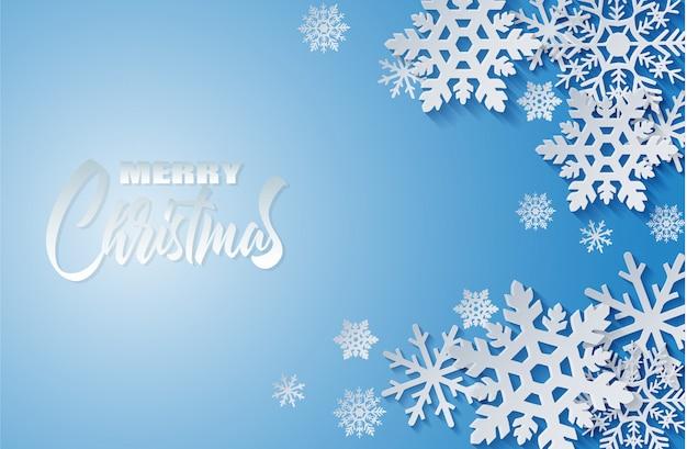 Feliz navidad, fondo de invierno.