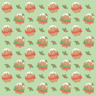 Feliz navidad galletas de jengibre lindo dibujo de fondo para envoltura de regalos