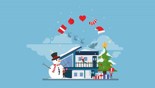 Feliz navidad con gente pequeña