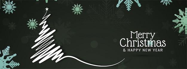 Feliz navidad hermosa pancarta festiva