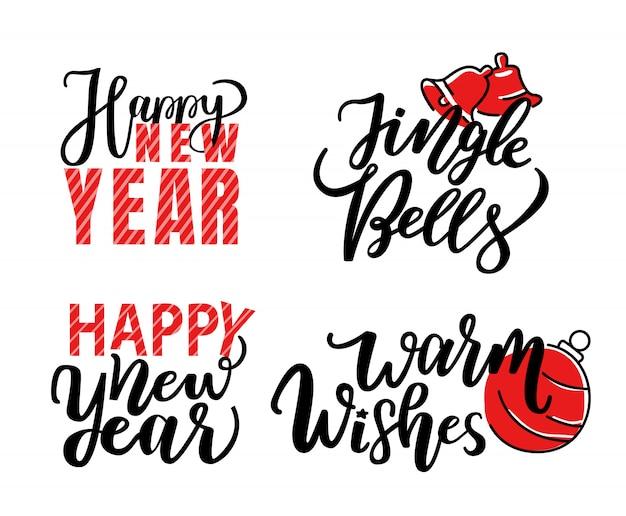Feliz navidad impresión, letras aisladas