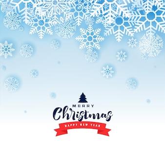 Feliz navidad invierno copos de nieve bonita tarjeta de felicitación