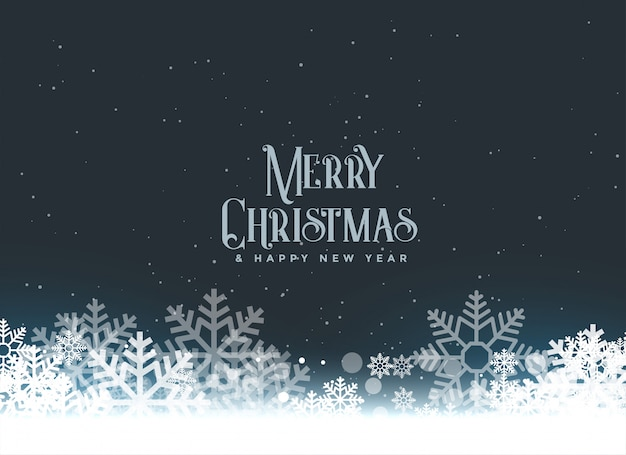 Feliz navidad invierno copos de nieve de fondo