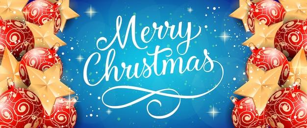 Feliz navidad letras con adornos