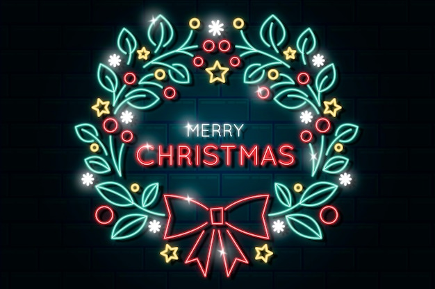 Feliz navidad neón