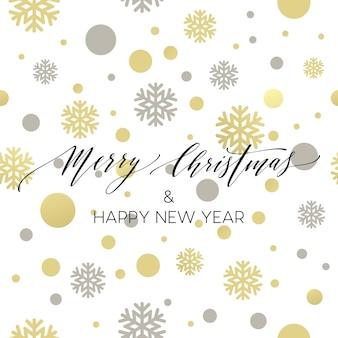 Feliz navidad oro brillante diseño de letras. ilustración vectorial eps 10