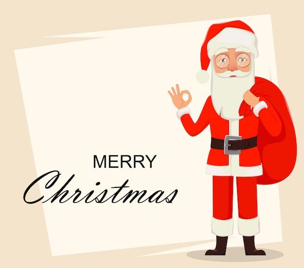Feliz navidad. papá noel
