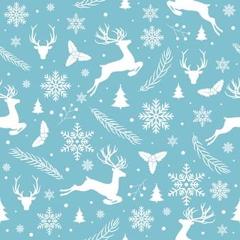 Feliz navidad patrón sin costuras