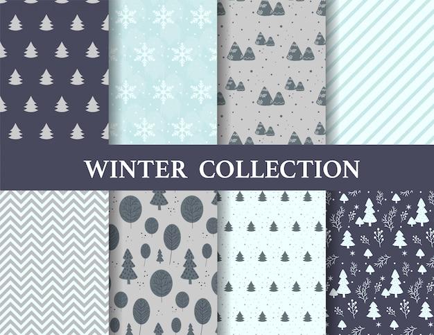Feliz navidad y patrones de invierno.