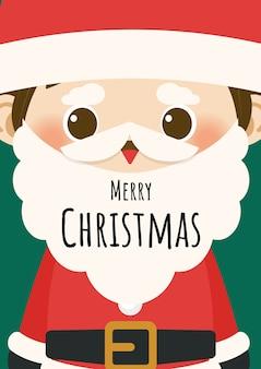 Feliz navidad con el personaje de santa claus.