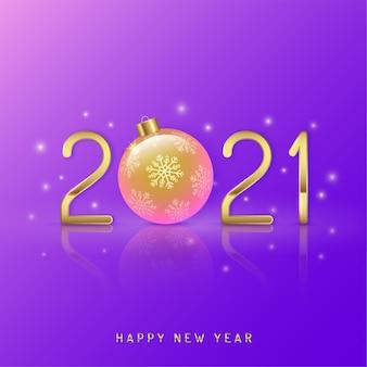 Feliz navidad y próspero año nuevo 2021 fondo