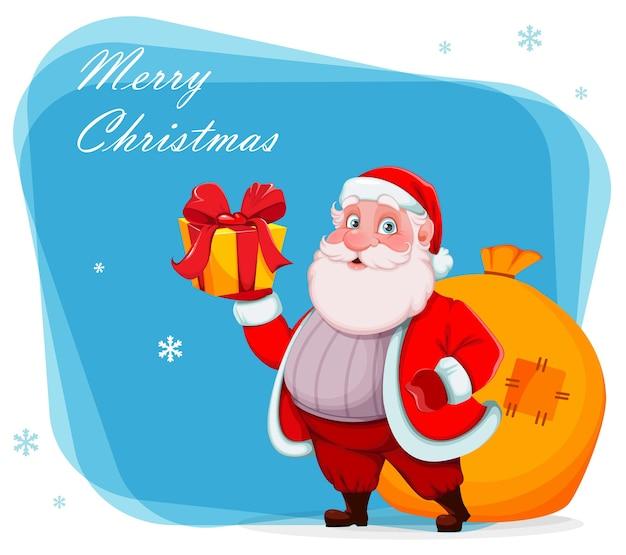 Feliz navidad y próspero año nuevo. alegre, santa claus