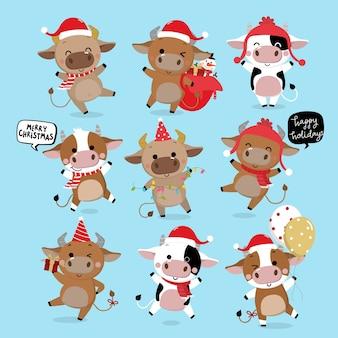 Feliz navidad y próspero año nuevo . el año del buey.