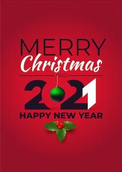 Feliz navidad y próspero año nuevo. estilo suéter feo.