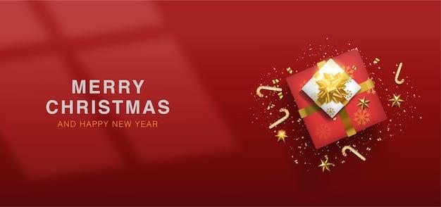 Feliz navidad y próspero año nuevo fondo de navidad