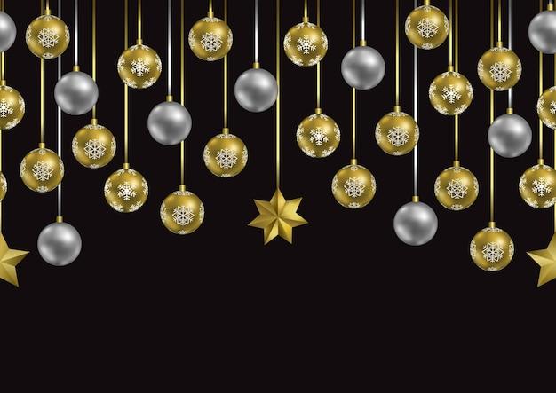 Feliz navidad y próspero año nuevo fondo de pantalla de repetición de borde sin costuras con lugar de texto