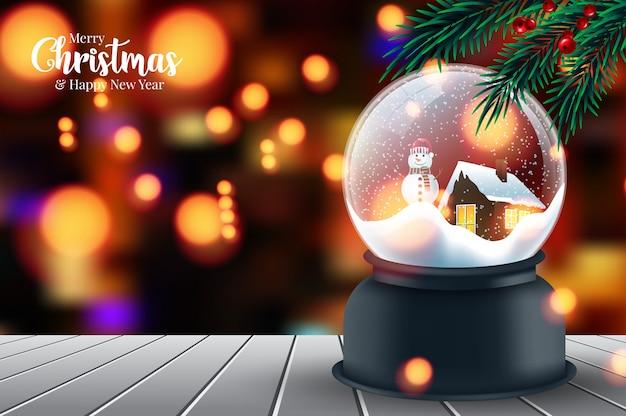 Feliz navidad y próspero año nuevo. hermosa con decoración navideña