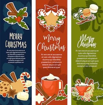 Feliz navidad y próspero año nuevo simbólico