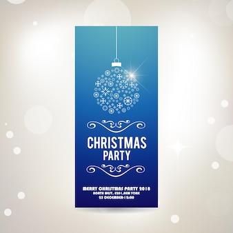 Feliz navidad y próspero año nuevo. tarjeta de felicitación retro tipográfica con bola de navidad y elementos de decoración