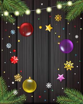 Feliz navidad y próspero año nuevo tarjeta de felicitación