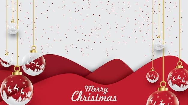 Feliz navidad de santa claus en el cielo