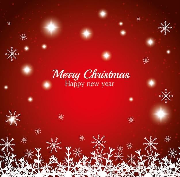 Feliz navidad tarjeta de deseos