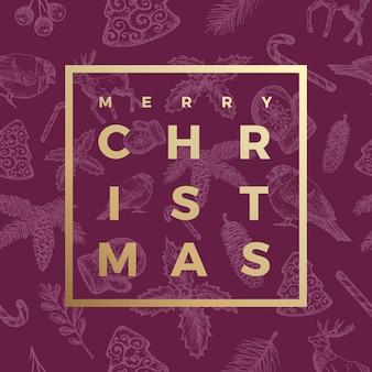 Feliz navidad tarjeta de felicitación abstracta