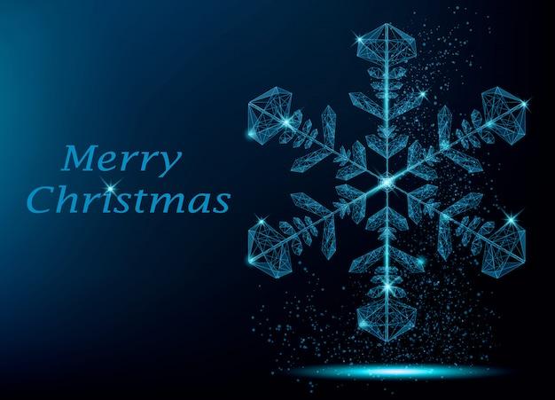 Feliz navidad tarjeta de felicitación con copo de nieve
