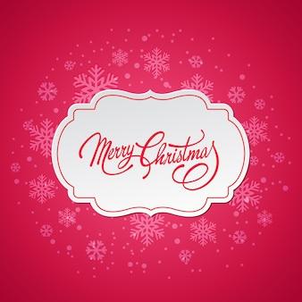Feliz navidad tarjeta de felicitación con copos de nieve