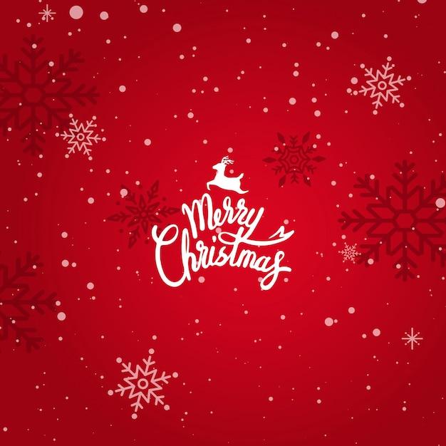 Feliz navidad tarjeta de felicitación de vacaciones de invierno