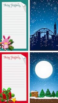Feliz navidad tarjeta de felicitación vertical de fondo