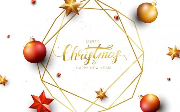 Feliz navidad tarjeta de felicitación.