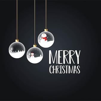 Feliz navidad tarjeta negra