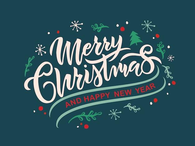 Feliz navidad texto, tarjeta de felicitación