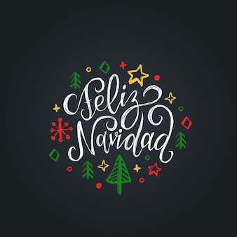 Feliz navidad traducido de letras españolas feliz navidad sobre fondo negro.
