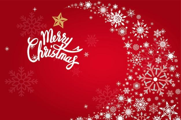 Feliz navidad vacaciones diseño fondo vector
